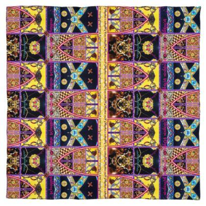 reiner 100%Seidensatin ETHNO #ninibing34  115 x 115 cm