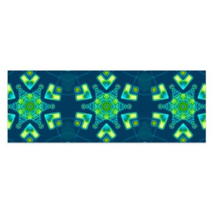 "Funky Blue and Aqua - Sarong #2 - Classic Half - 66'x24"" (167cmx60cm)"