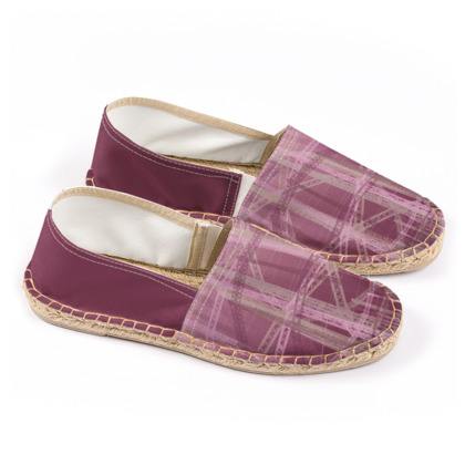 Espadrilles - Gasholders in Mauve and Pink