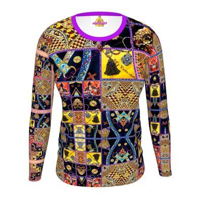 Slim Fit T-Shirt Damen #ninibing34 ETHNO VARIEDA size S