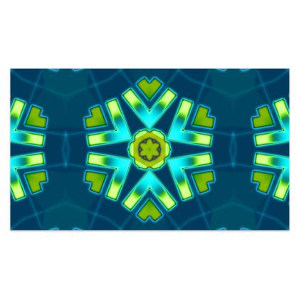 "Funky Blue and Aqua Star - Sarong #3 - Classic Long - 66'x44"" (167cmx110cm)"