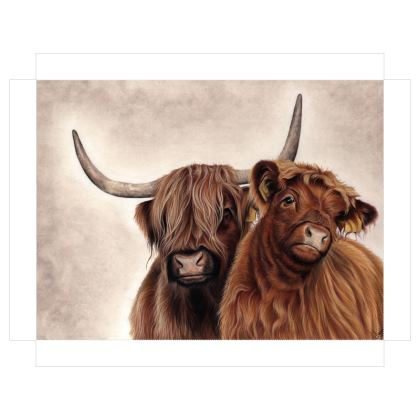 Highland Cattle Art - Canvas Print of Highland Cows