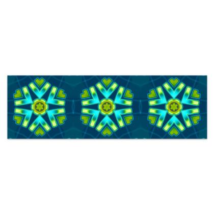 "Funky Blue and Aqua Star #2 - Plus Half - 76'x24"" (193cmx60cm)"