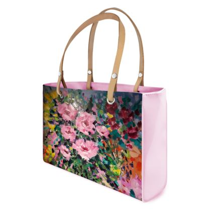 Fabulous Pink Flowers Handbag by Alison Gargett Artist and Designer