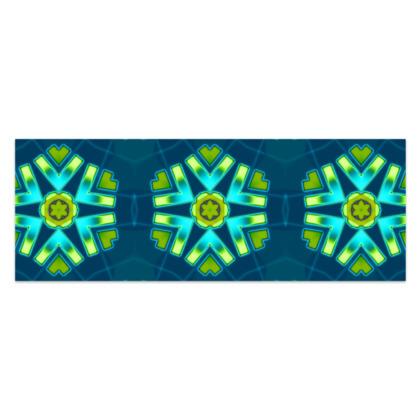 "Funky Blue and Aqua Star #1 - Sarong - Classic Half - 66'x24"" (167cmx60cm)"