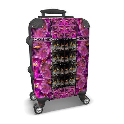 279,- ninibing34 DESIGNER KOFFER max cabin.size #ninibing34suitcase Flamingo bicolour