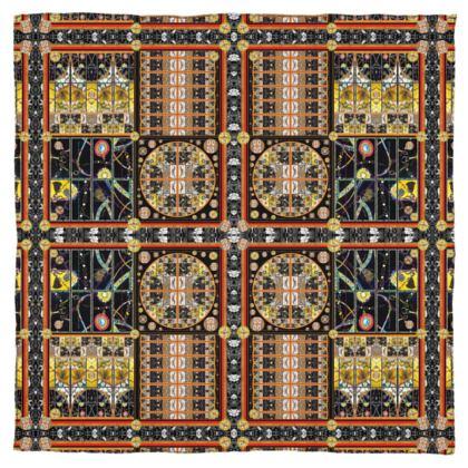 Schal/Halstuch UNIVERSE! Hermès Style and Quality #ninibing34  115 x 115 cm reiner Seidensatin