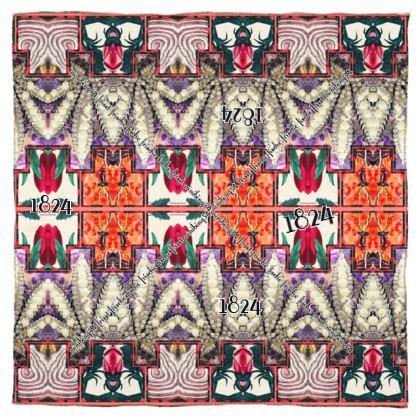ALMANACH reiner Seidensatin 115 x 115 cm