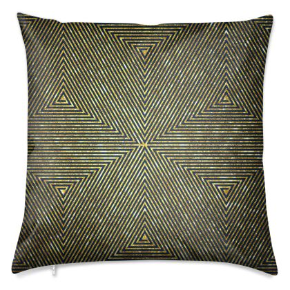 """Concentric Cube"" Luxury Velvet Cushion"