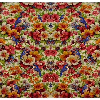 Kingfisher Chintz Luggage Tag