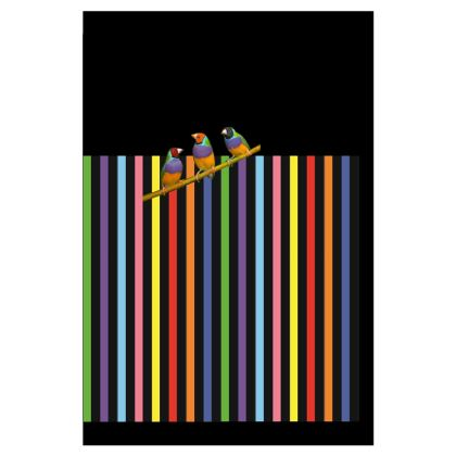 Graphic Birdies Luggage Tag