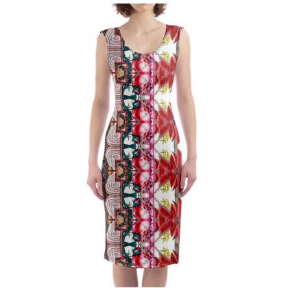 225,- Bodycon-Kleid size M 38-40 soft Fashion Jersey ALMANACH 1824 #ninibing34