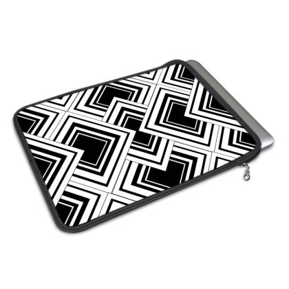 MacBook Cover Black And White Design