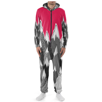 Cut & Sew Onesie The Tall Grey Mountains