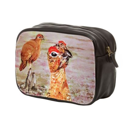 Mens unique Grouse Pair Wash Bag by Alison Gargett Artist and Designer
