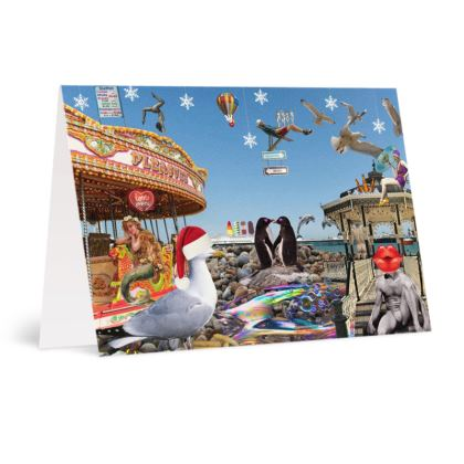 Christmas on Brighton Beach A6 Greetings card Packs
