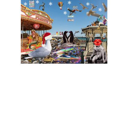 Christmas on Brighton Beach Postcards