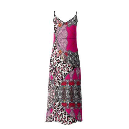237,- Sophia Slip-Kleid PINK ANIMAL size M 38 #ninibing34