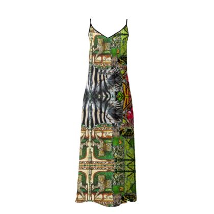237,- Sophia Slip-Kleid size M 38 GREEN JAGUAR