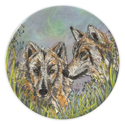 Wolves China Plate