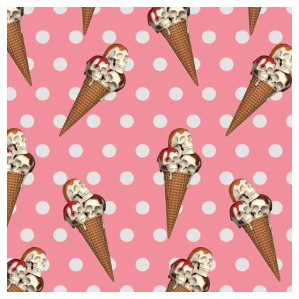 Hot Dish Pads with Ice-Scream Print in Pink