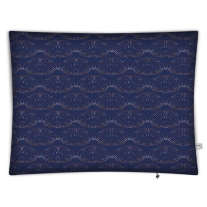 Midnight Foliage Rectangular Floor Cushion