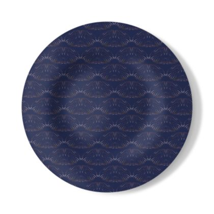 Midnight Foliage Decorative Plate