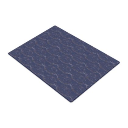 Midnight Foliage Glass Chopping Board