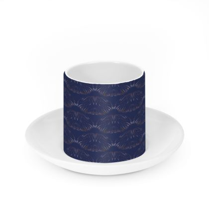 Midnight Foliage Cup & Saucer Set