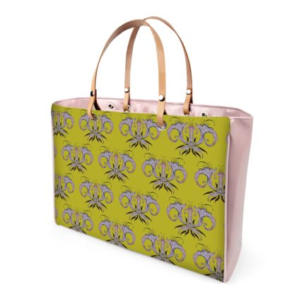 Lime Damask Handbag