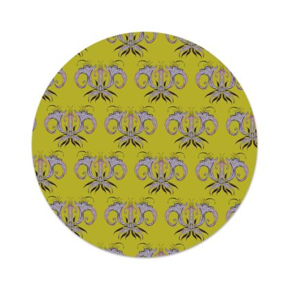 Lime Damask Serving Platter