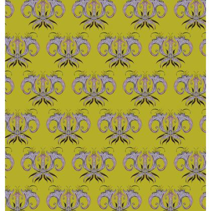 Lime Damask Fabric Placemat