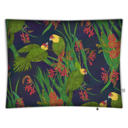 Parakeet Paradise Rectangular Floor Cushion