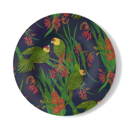 Parakeet Paradise Decorative Plate