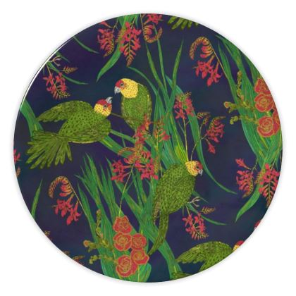 Parakeet Paradise China Plate