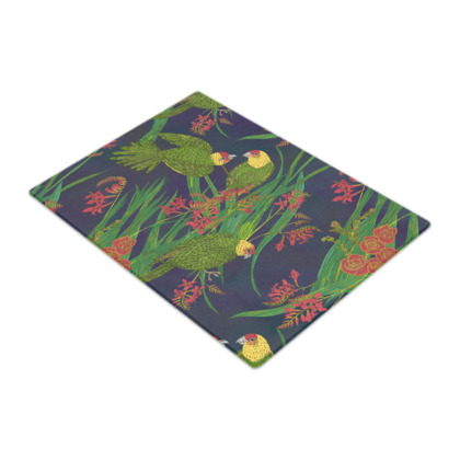 Parakeet Paradise Glass Chopping Board