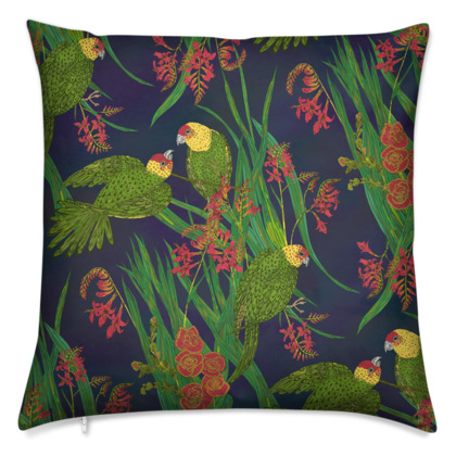 Parakeet Paradise Cushion