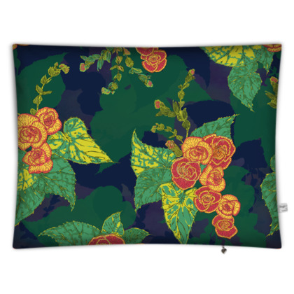 Tropical Floral Rectangular Floor Cushion