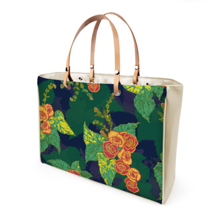 Tropical Floral Handbag