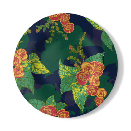 Tropical Floral Decorative Plate