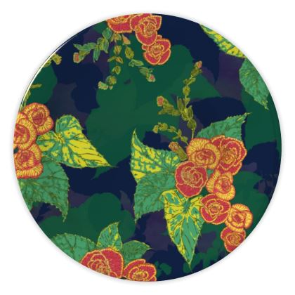 Tropical Floral China Plate