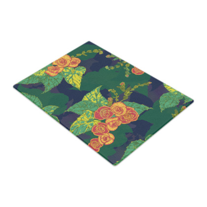 Tropical Floral Glass Chopping Board