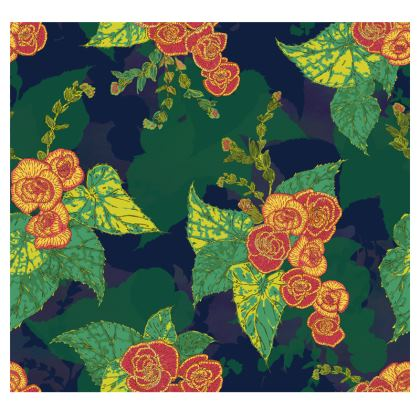 Tropical Floral Fabric Placemat