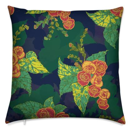 Tropical Floral Cushion