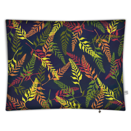 Tropical Foliage Rectangular Floor Cushion