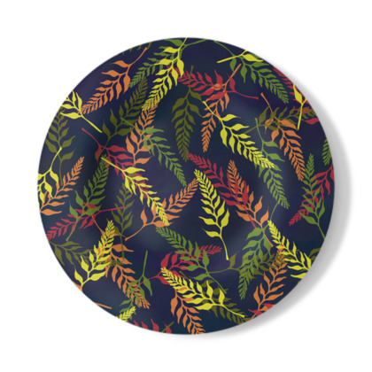 Tropical Foliage Decorative Plate