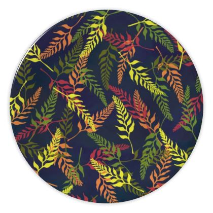 Tropical Foliage China Plate