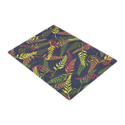 Tropical Foliage Glass Chopping Board