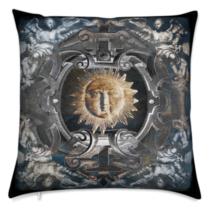 Baroque Sun - Velvet Cushion