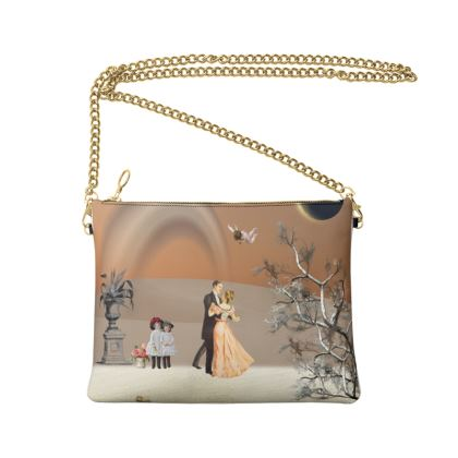 Victorian Era inspired Crossbody Bag With Chain